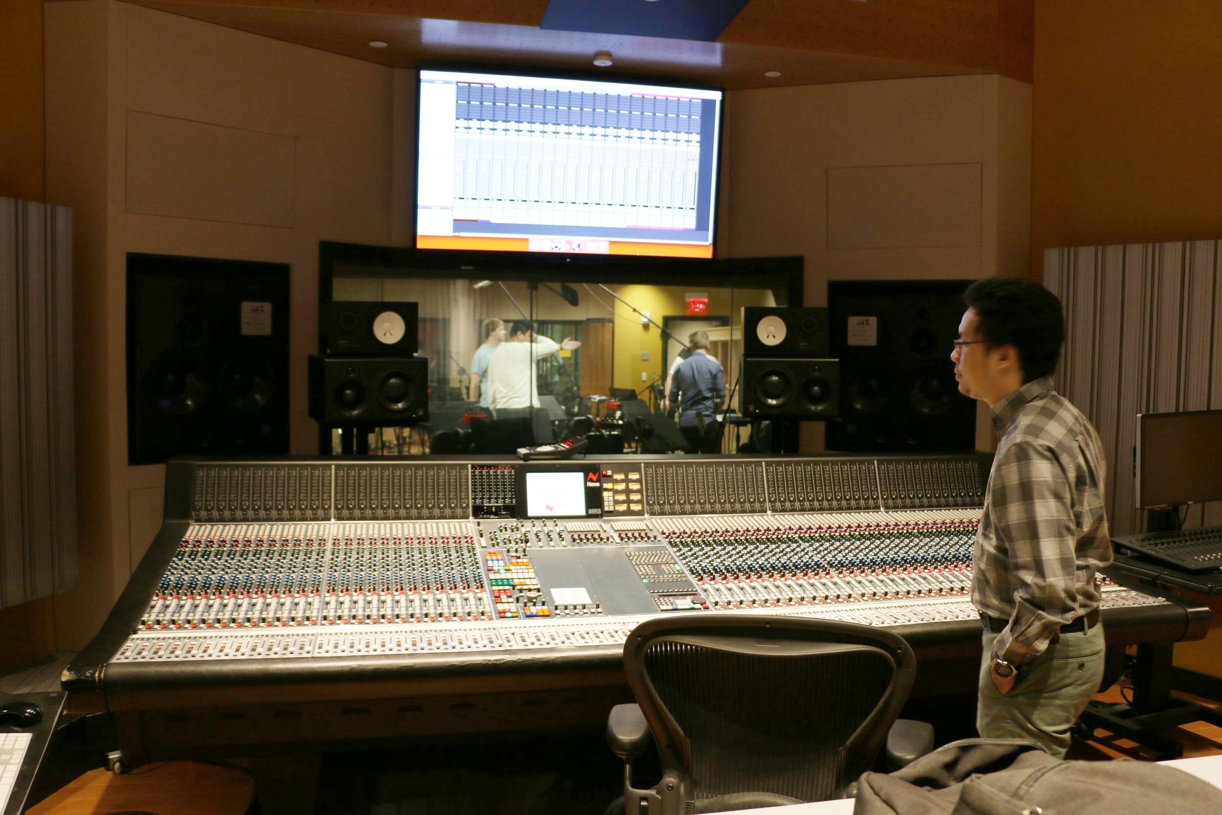 At Mixing Booth in Berklee Studio 1