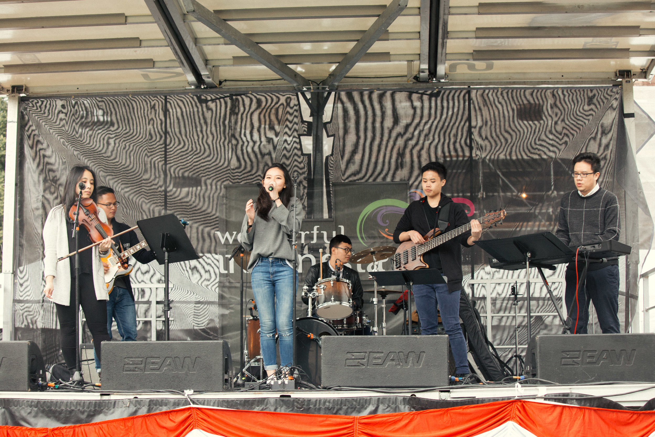 Performing at New England Indonesian Festival 2017 with PopCorners