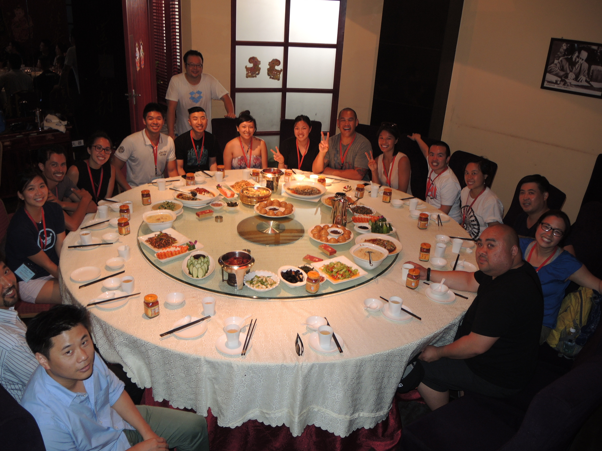 Our first big roundtable lunch at Mao's restaurant