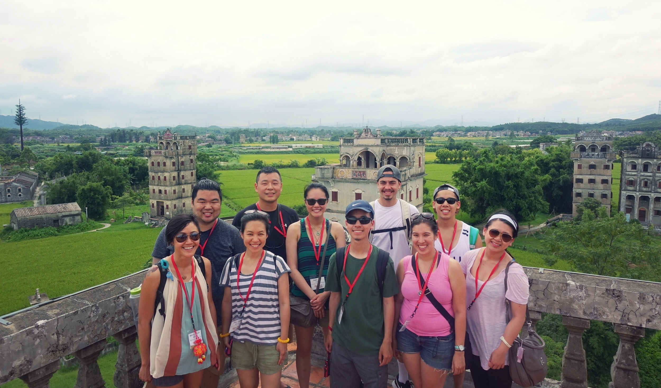 2016 Roots cohort atop one of the UNESCO Watch Towers of Hoiping