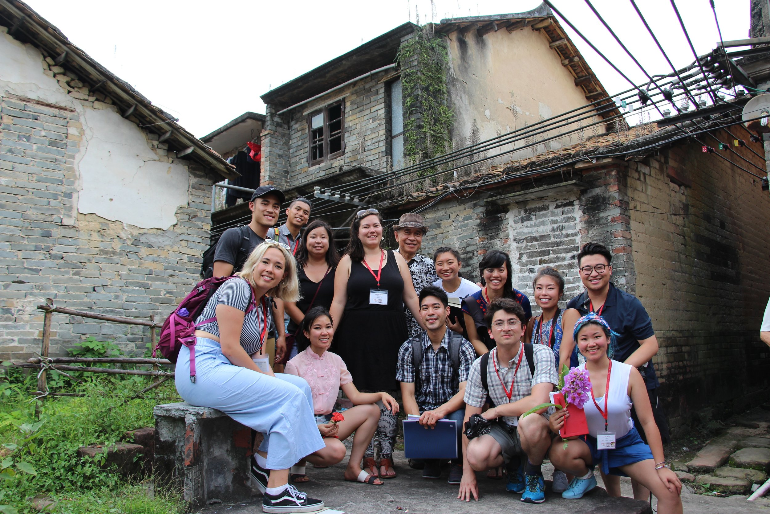 The 2017 cohort in Bekah Olstad's maternal grandfather's village in Dongguan