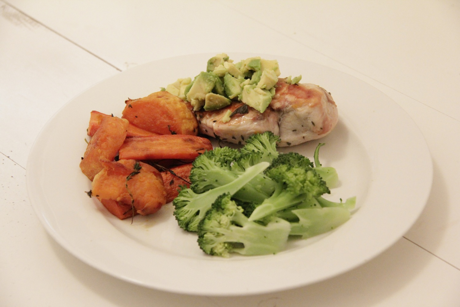 Recipe for one - Roasted chicken with Thyme
