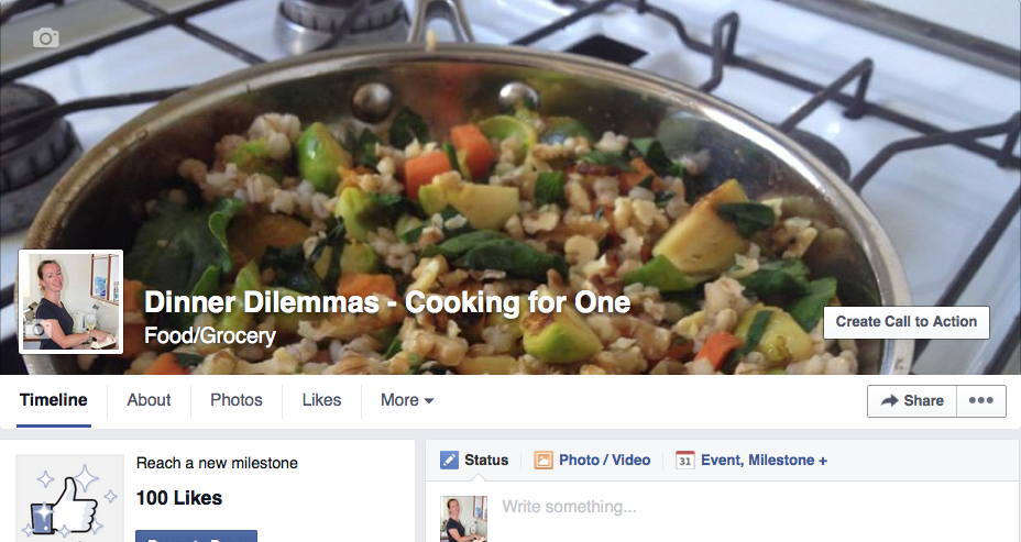 Recipes for one - Facebook community
