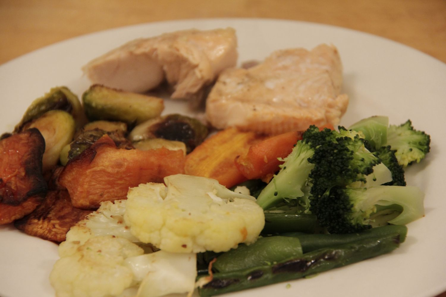 Ending the week on a high - Sunday night Salmon and Roasted Vegetables