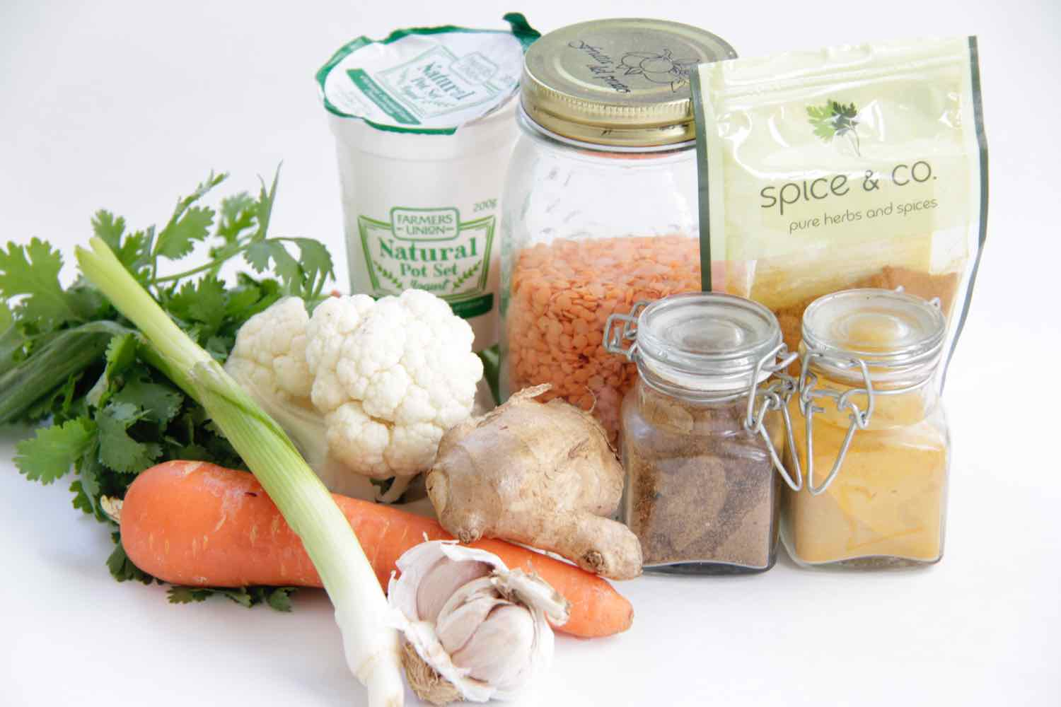 Ingredients for simple one pan curry