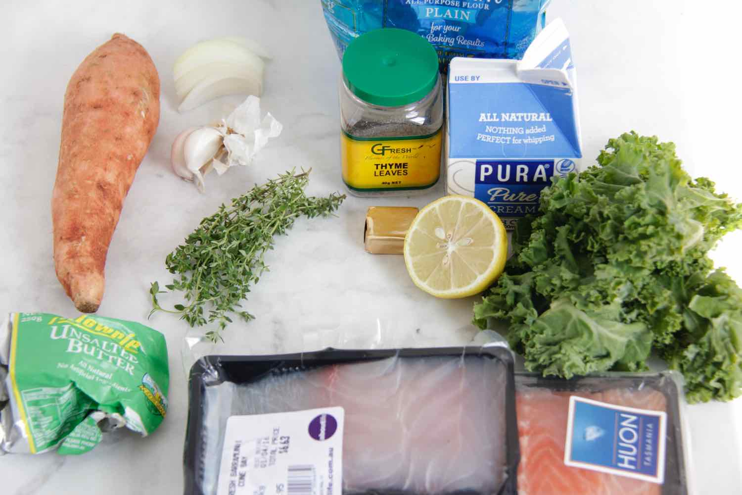 Getting ready to make fish pie