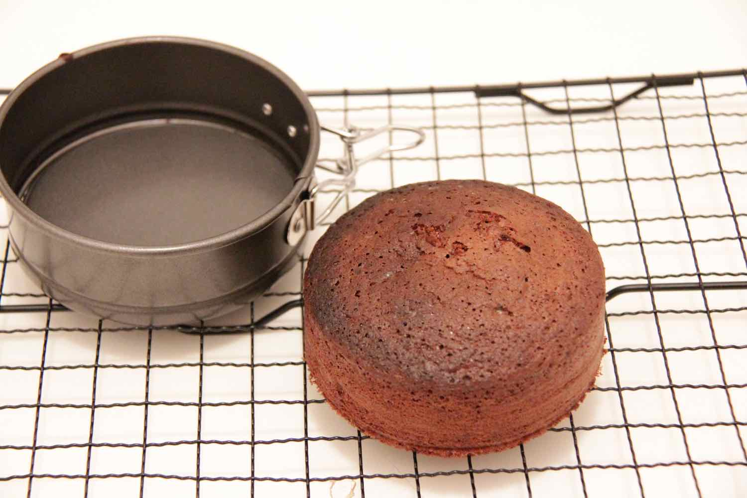 Chocolate sponge cake for one! Adapted from the Country Womens' Association Cookbook