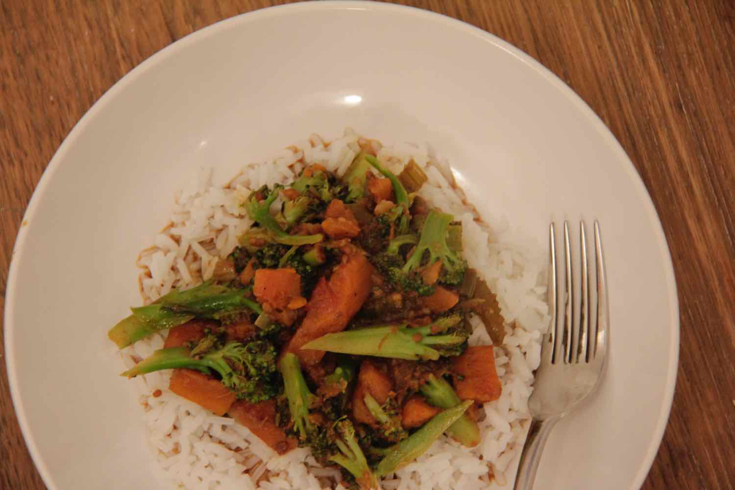 Leftover beef fillet re-purposed into a curry