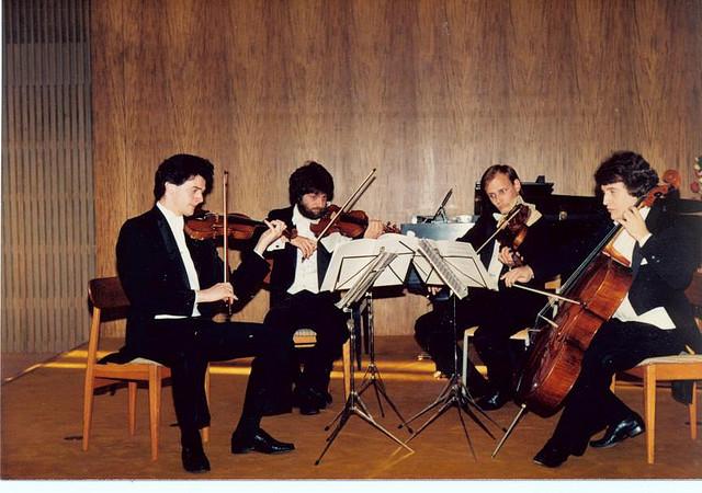 With Vetta String Quartet, 1985