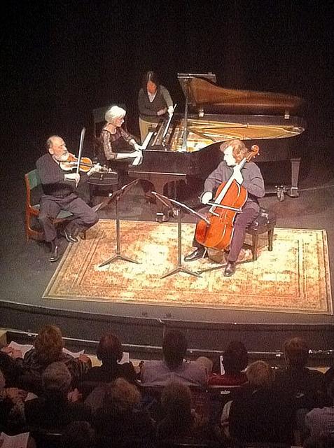 With violinist Paul Rosenthal and pianist Doris Stevenson, Alaska