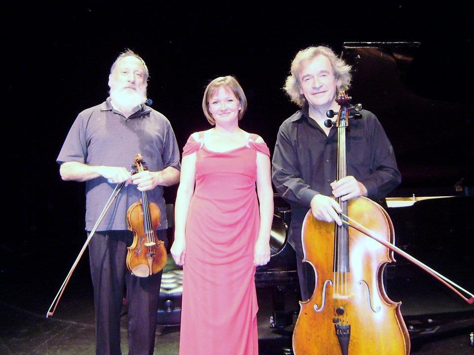 With violinist Paul Rosenthal and pianist Anastasia Markina