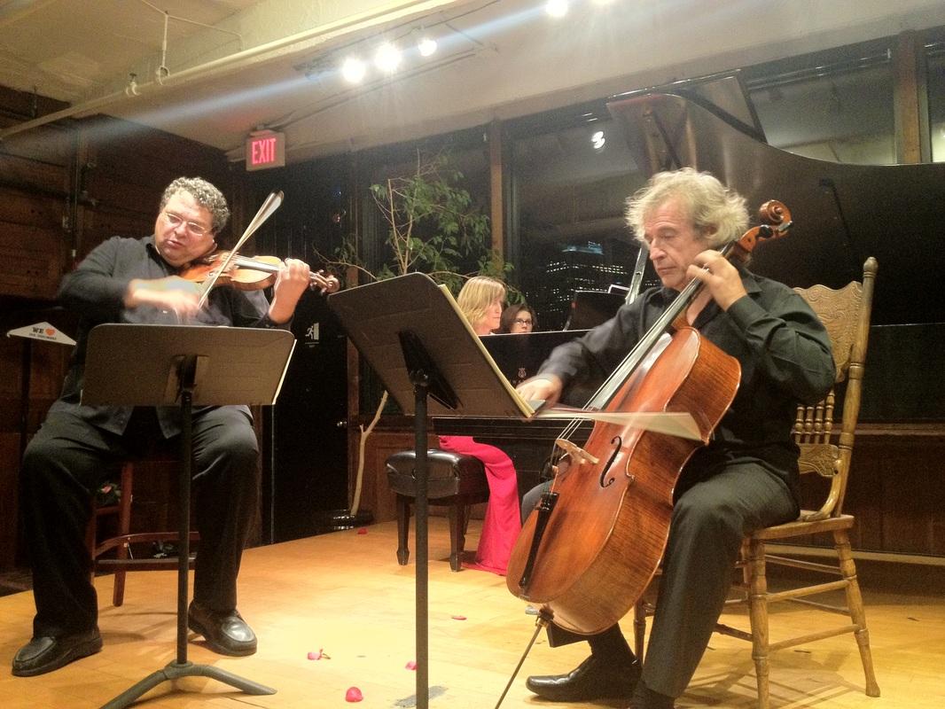 With violinist Mark Peskanov and pianist Olga Vinokur