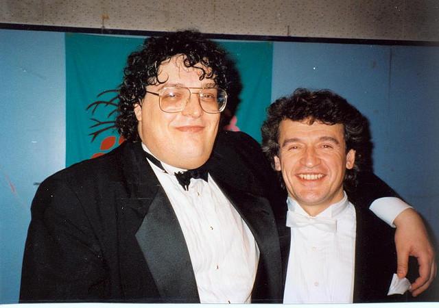 With violinist Mark Peskanov