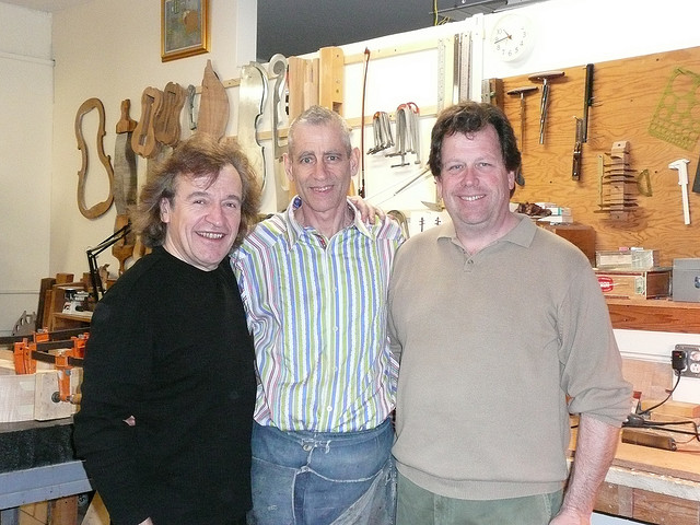 With Gary Garavaglia (Chicago luthier) and Bill Lee