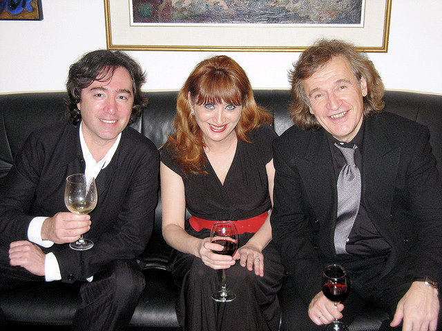 With violinist Dmitry Berlinsky and pianist Baya Kakouberi