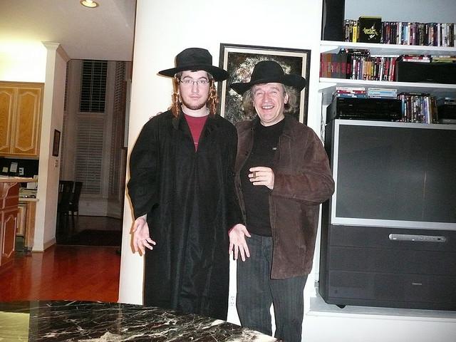 With son Sasha on Halloween