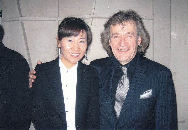With former student, Jeong-Suk Lee