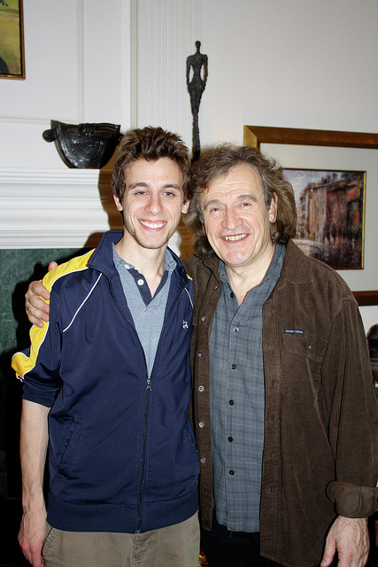 With former student, cellist Ross Gasworth