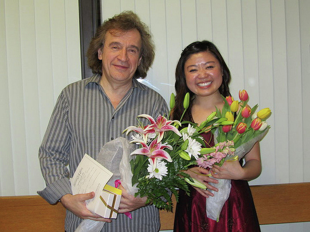 With former student, Dr. Denika Lam-Kleinmann