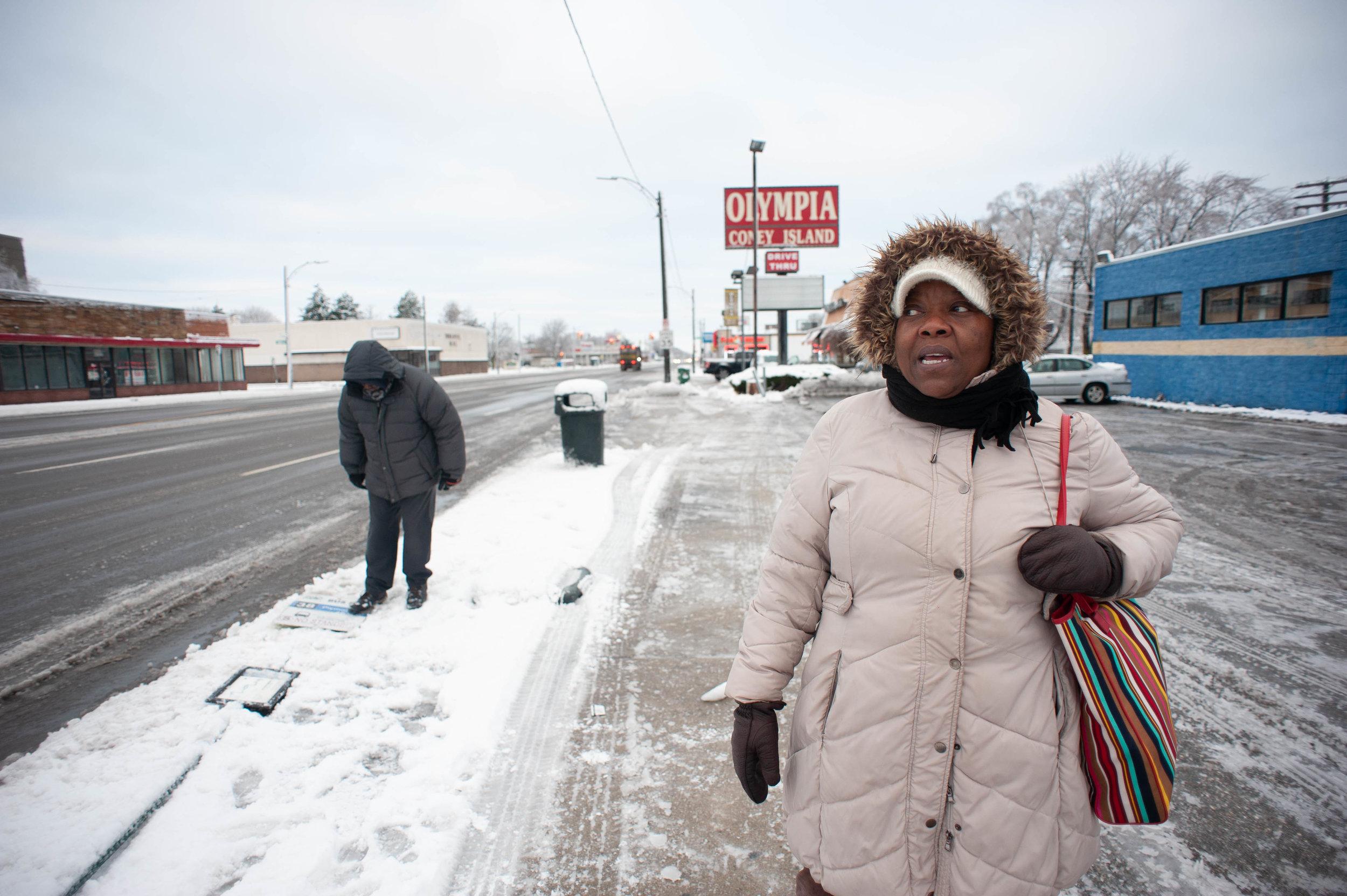 Detroit Bus Stops