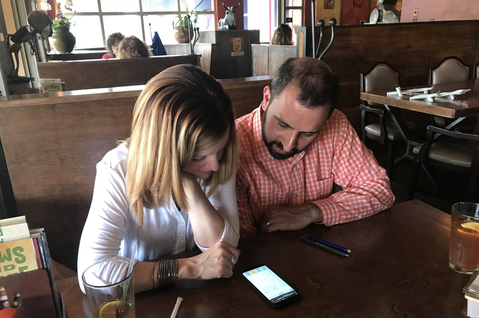 Joe and Jenn Liberatore, walk through some tasks on our low-fidelity prototype and provide feedback. We were able to do this exercise with four groups of potential users.