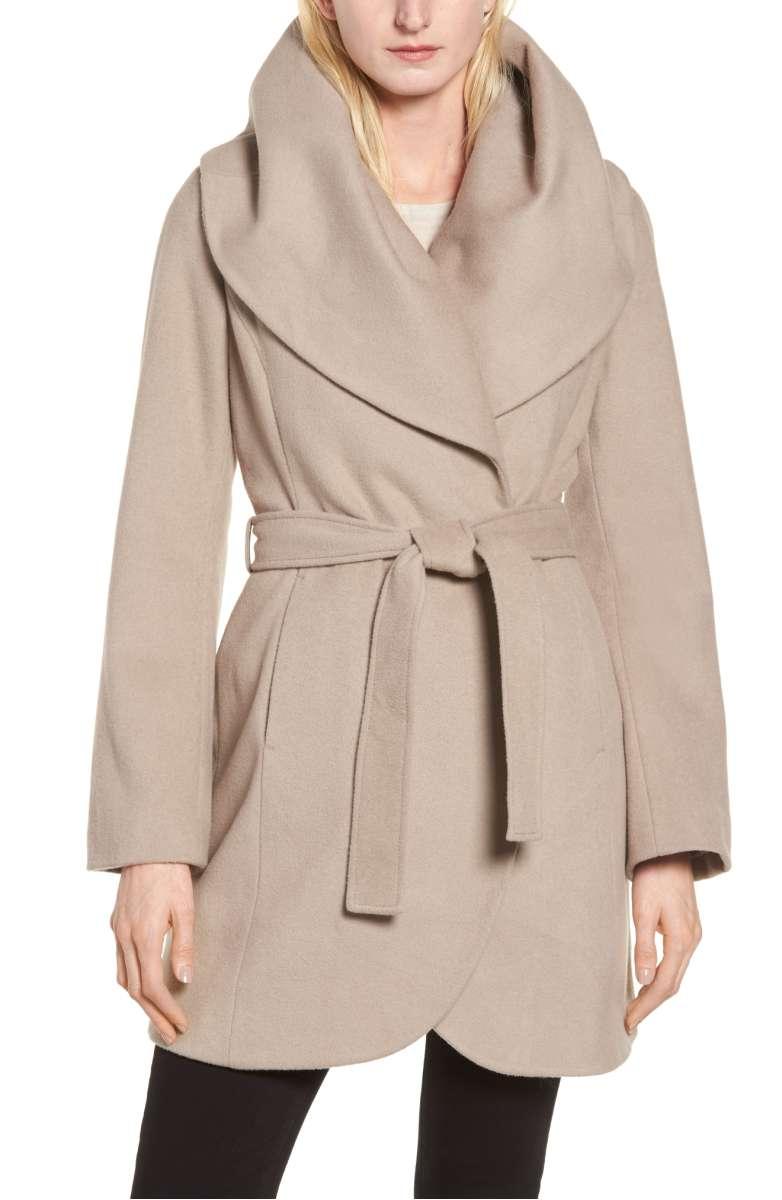 Tahari Wool Blend Coat
