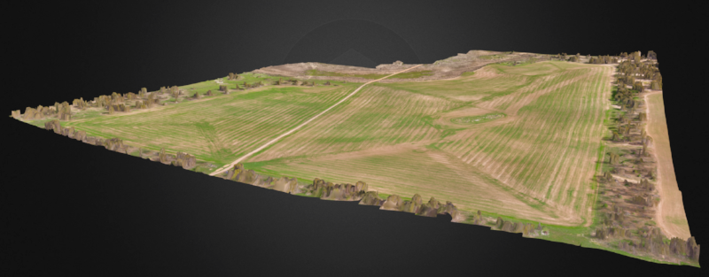 Images can be output for any angle and elevation to determine best practices for seeding, harvest, irrigation, historical records and any future planning.
