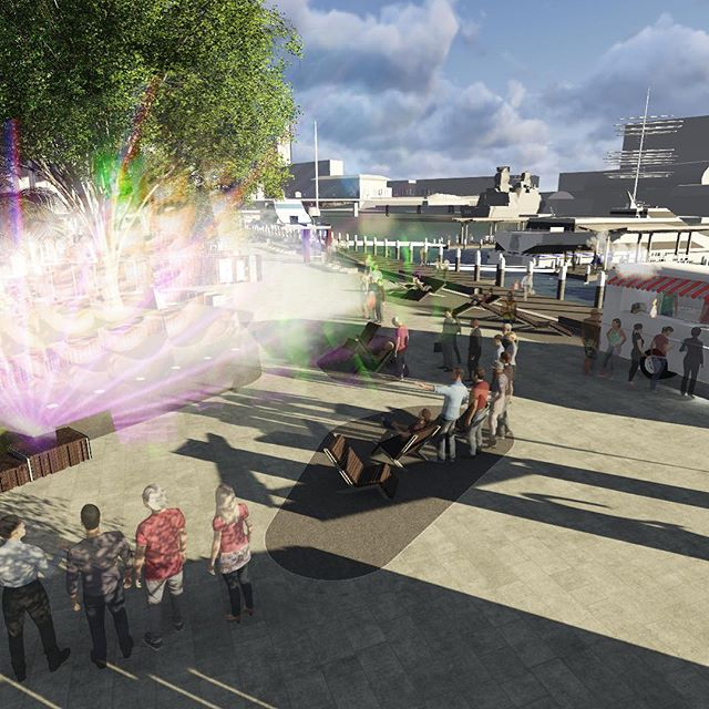 King Street Wharf Revamp: to enliven the spaces, they will be turned from mere thoroughfares into world-class plazas allowing interaction and socialisation.⠀ Artistic seats cascade into the plazas, defining the space, while visually and physically drawing people in. Planting and materials will evoke the area's wharf history. Most importantly, interactive artworks will lift the social, spatial and interactive quality of KSW, making this an exciting and unique series of spaces to visit time and again.⠀ .⠀ .⠀ .⠀ .⠀ .⠀ #whatalandscapearchitectdoes #landarch #landscapearchitecture #aila #ailanational #ailansw #景观设计 #景观建筑 #landscapedesign #designinspo #design #designinspiration #designlife #instainspo #creative #placemaking #urbandesign #render #designprocess #landscapearchitecturesydney #landscapearchitecturensw #landscapearchitectureaustralia #waterfront #sydneyharbour #darlingharbour #kingstreetwharf #publicart #publicspace #urbanliving  #lasalleinvestmentmanagement⠀