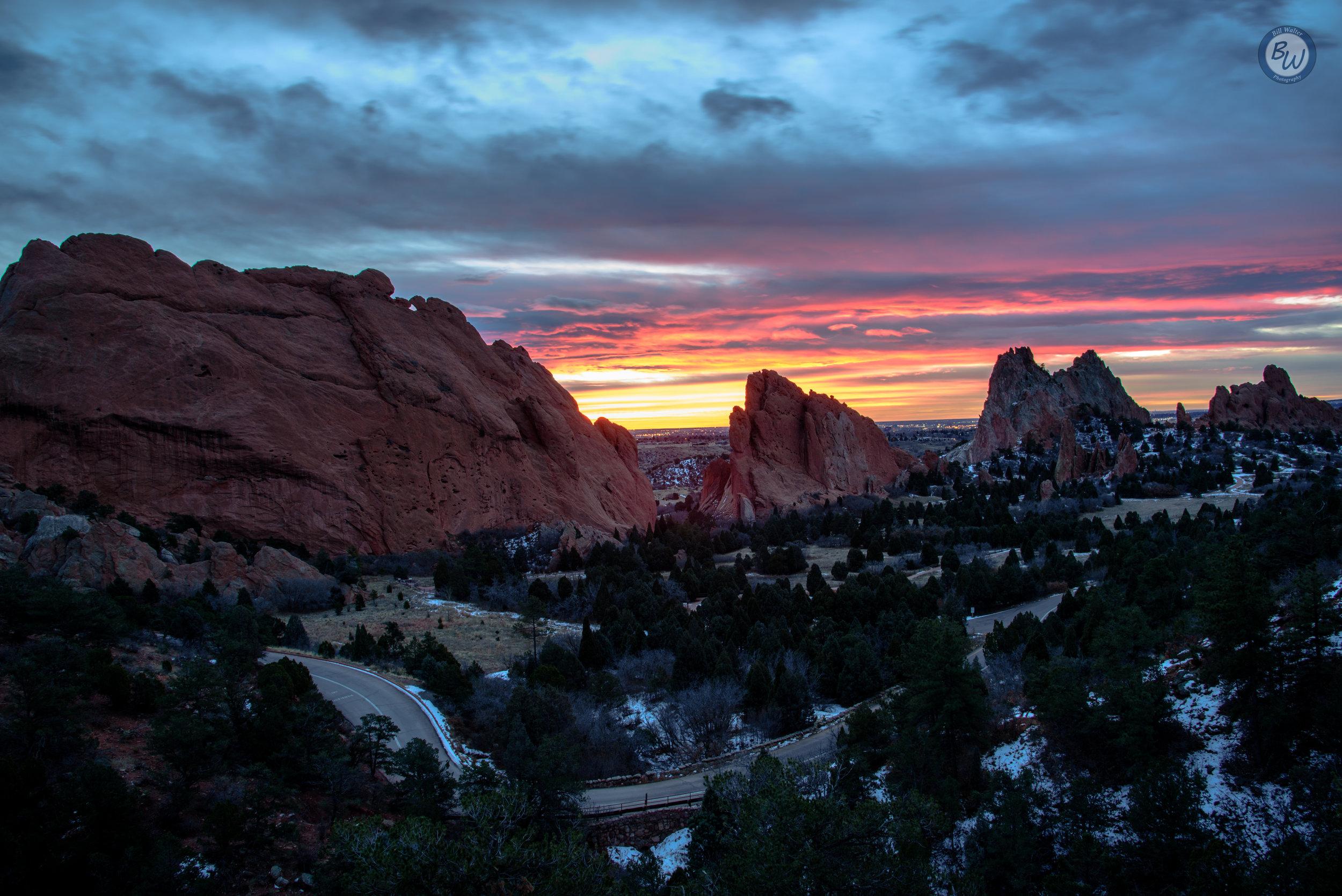 Winter Sunrise At Garden Of The Gods Bill Walter Photography