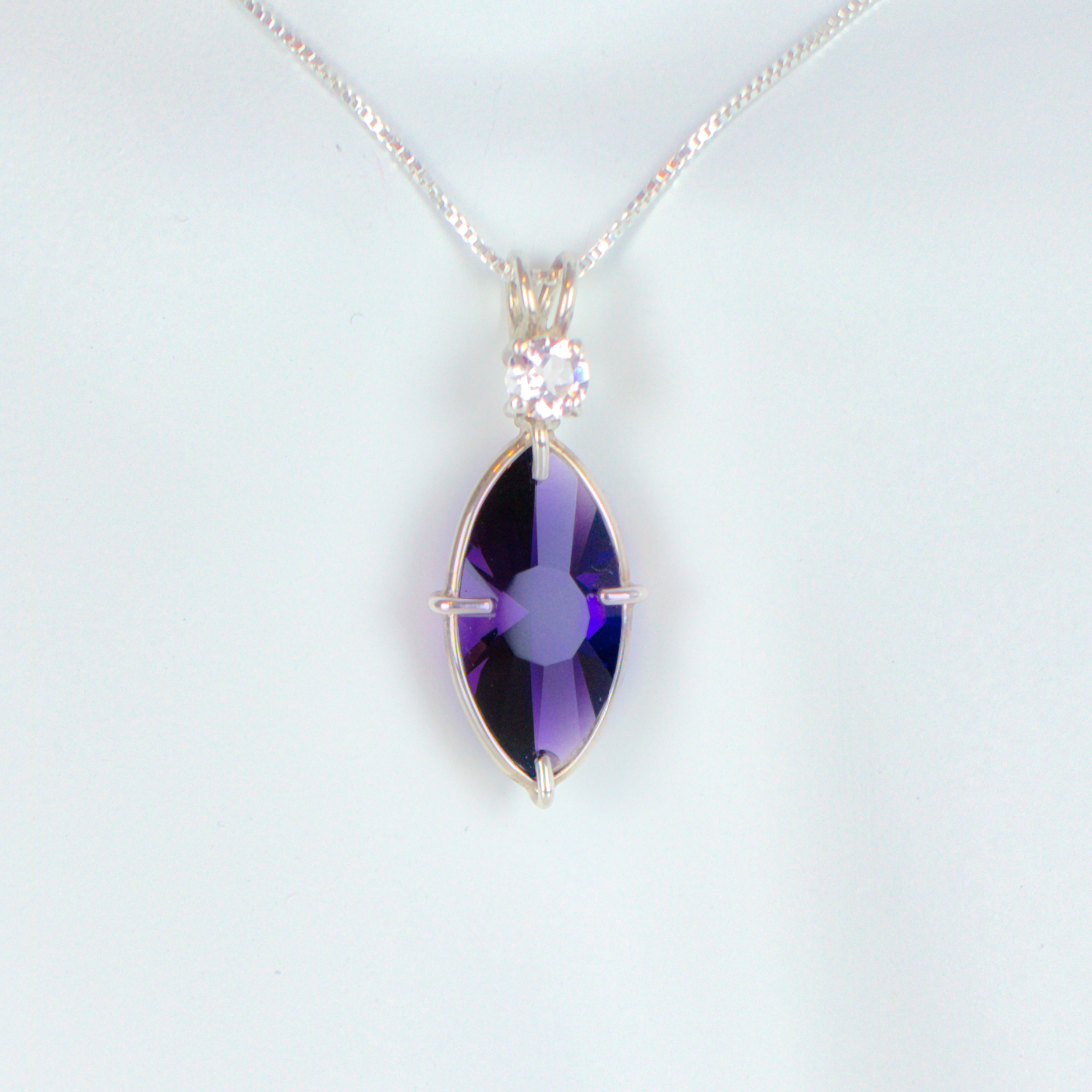 Siberian purple quartz & Morganite