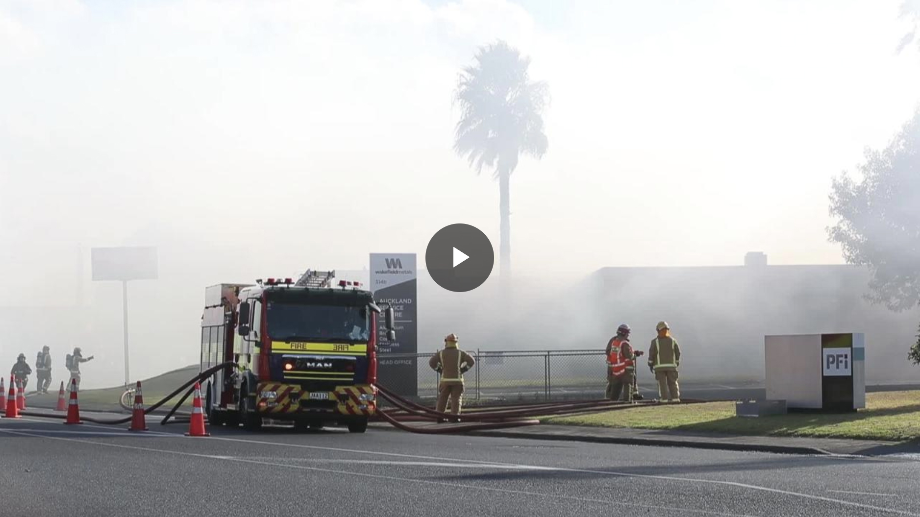 Factory fire at Argus in Onehunga