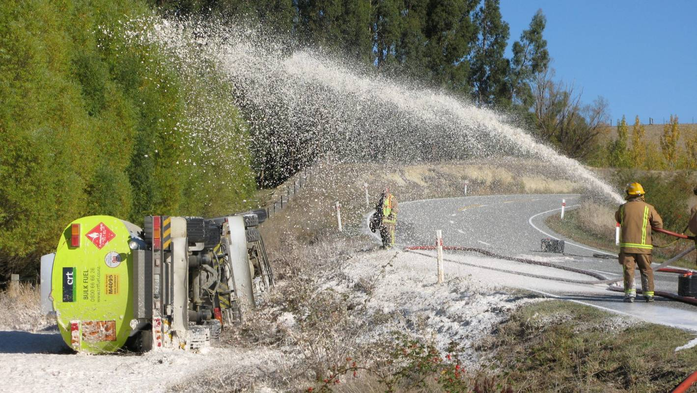 Firefighters have been using foam to extinguish fuel fires for decades. Via STUFF