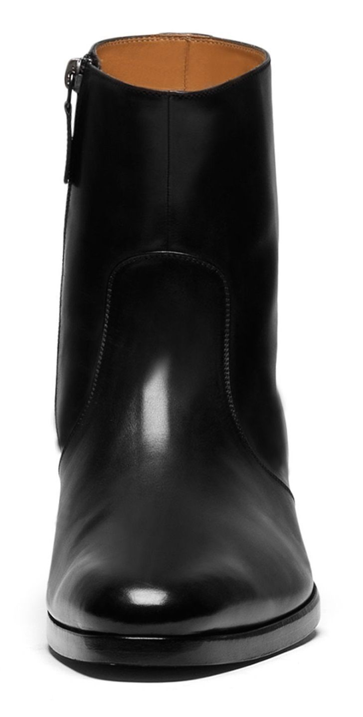 mens black ankle boots with zip