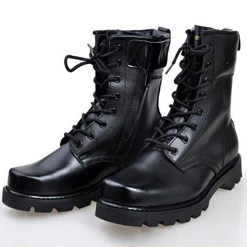 Men Combat Boot, Men Lace Up Boot CMB-163 — Curvento