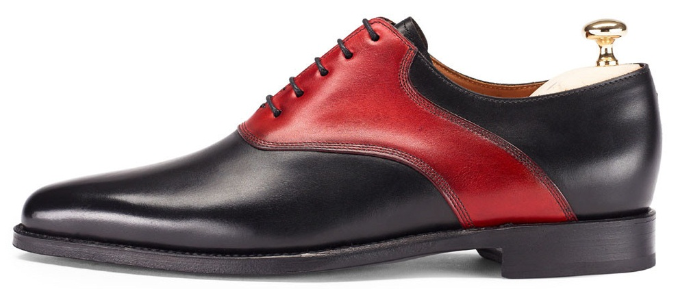 Men Black And Red Dress Shoes FWS-212