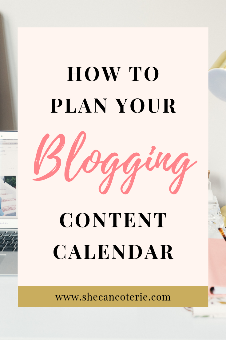 Planning a blogging editorial calendar doesn't have to be hard. Here's 3 questions to help you can started + a FREE editorial calendar template! | shecancoterie.com