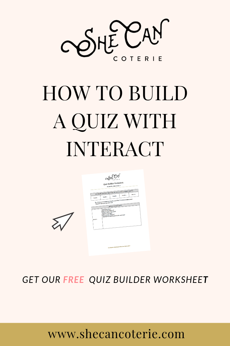 how to build a quiz with interact