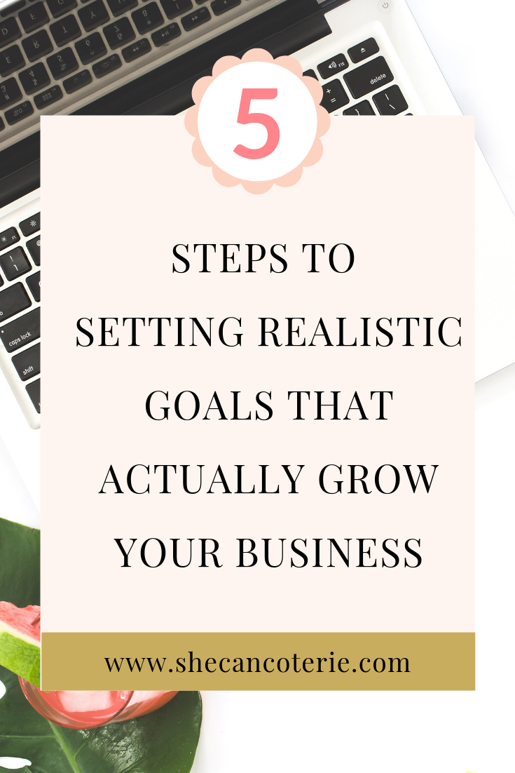 Where's a good place to start in our journey to becoming our own CEO, to finding freedom, and to actually growing our business? The answer? Goal setting. What do goals consist of, exactly? How do we craft realistic but challenging goals that actually grow our businesses? | SheCanCoterie.com