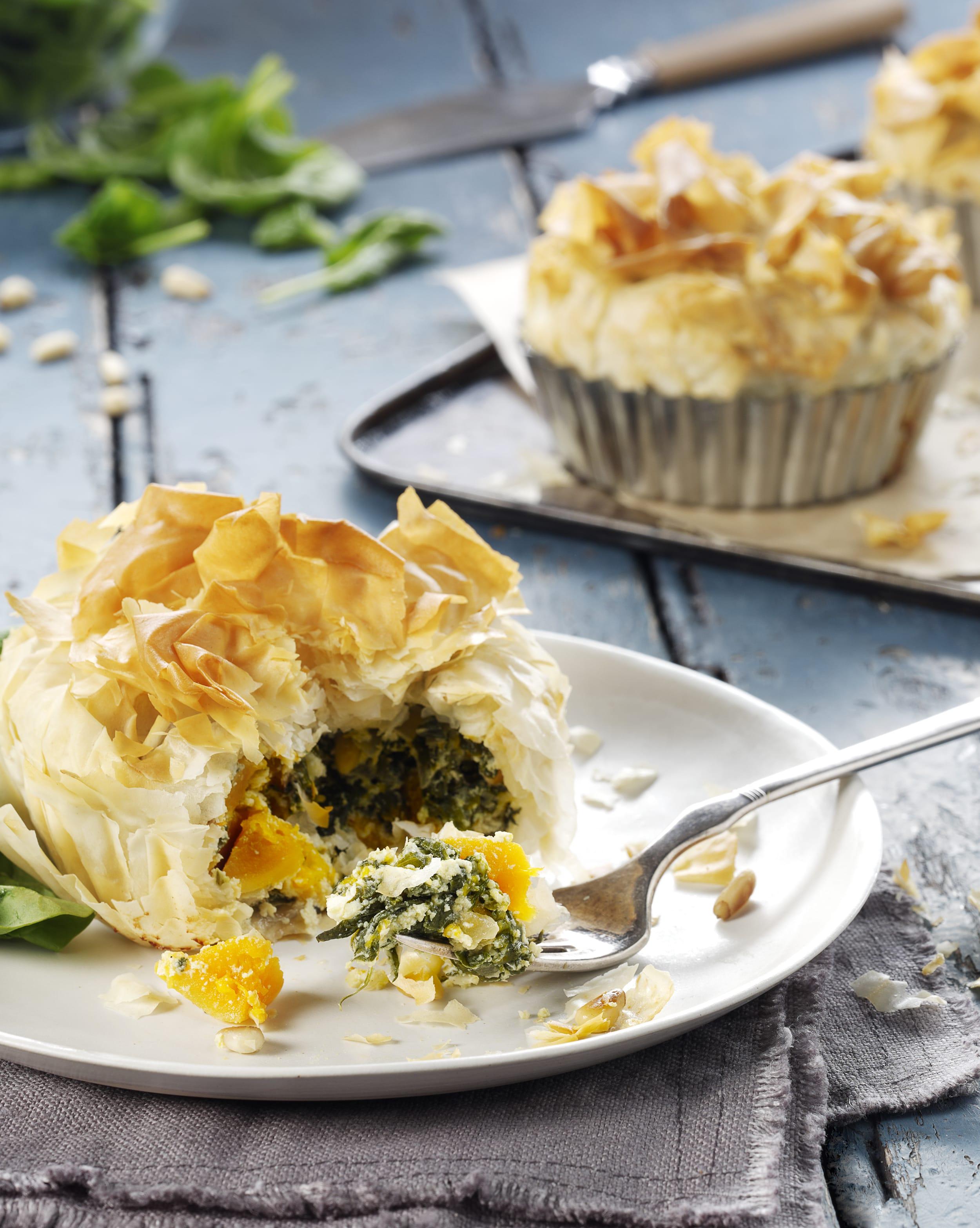 Spinach and Pumpkin Filo Pie