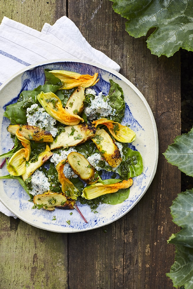 Coal Roasted Courgettes