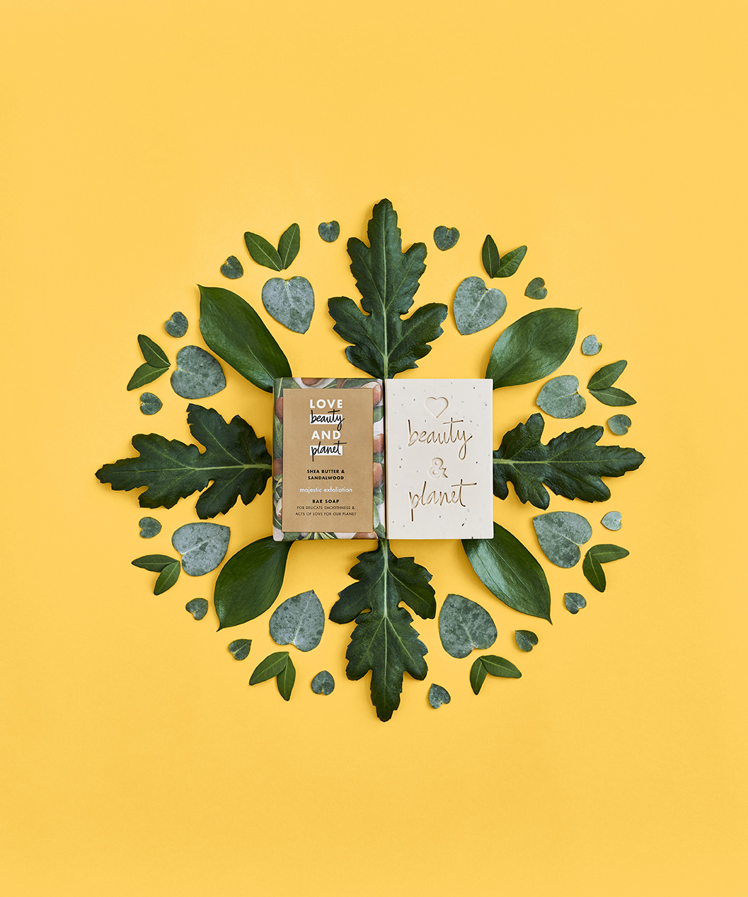 Soap bar leaf mandala