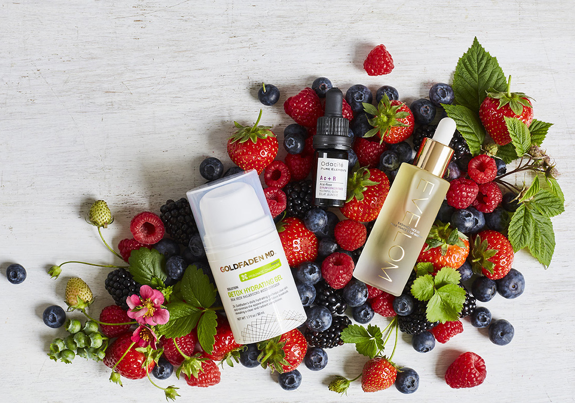 Berries in Skincare styled for Space NK