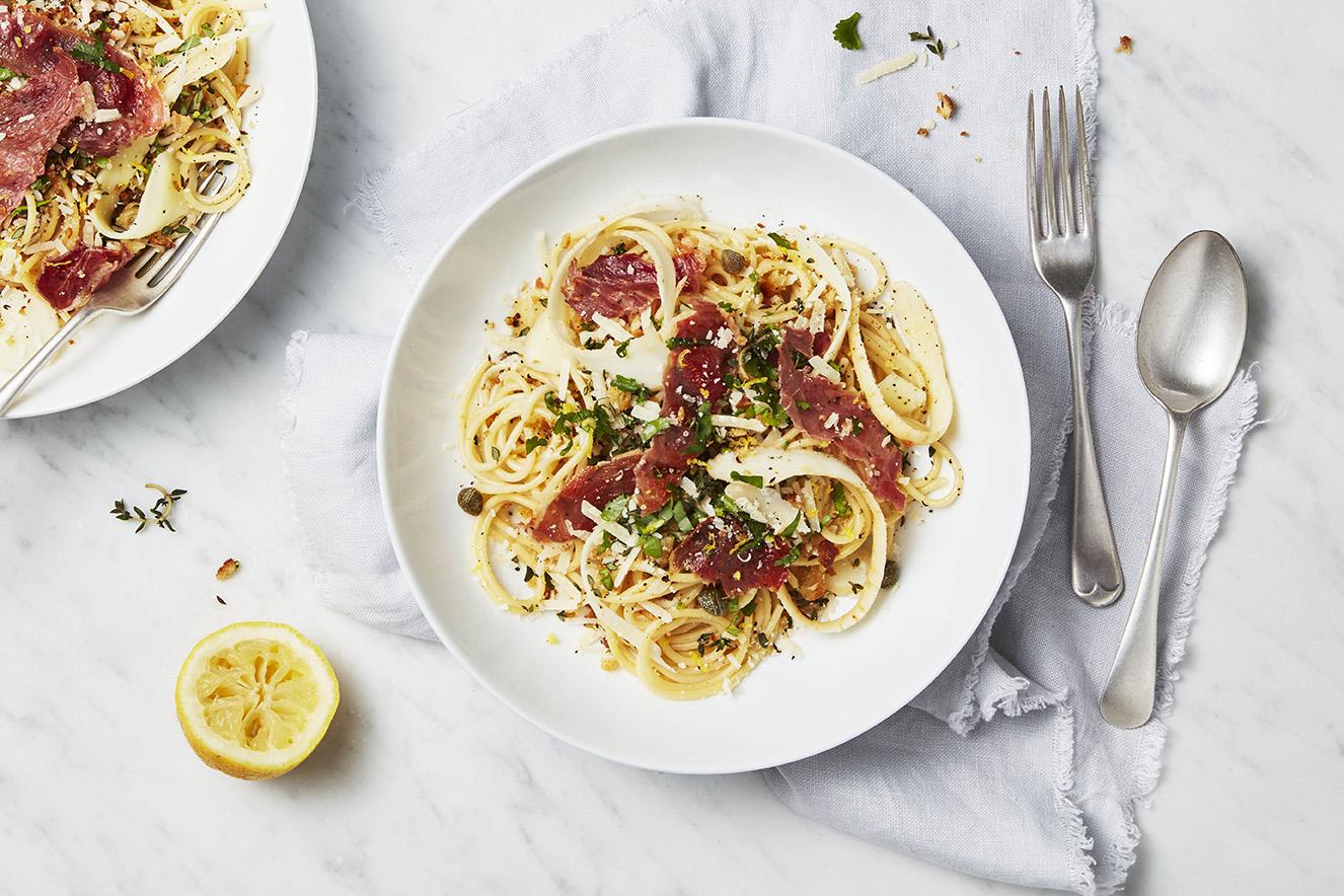 Parsnip and Pancetta Pasta