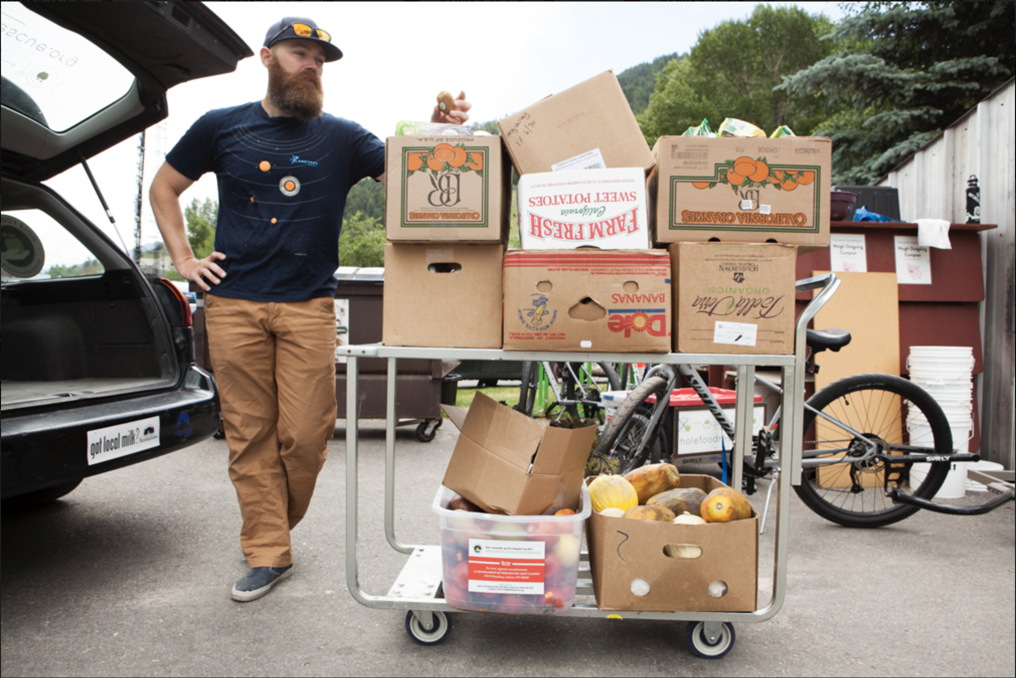 Food Rescue & Redistribution - We save the food and relocate it to where it's needed most.HFR diverted more than 200,000 pounds of excess food from eight local food retailers in 2017 alone, serving roughly 1,000 in-need community members each week. HFR rescues food that would otherwise be wasted due to surplus, cosmetic imperfections, and approaching expiration dates. Much of the food HFR rescues is highly nutritious fruits and vegetables, as these foods have a shorter shelf life than shelf-stable, processed food.Since HFR launched in 2013, it has provided at-risk youth, families, and seniors with nutritious food that expands the efforts of local food pantries and kitchens. Rescued food that isn't distributed to people is fed to farm animals or composted, further reducing contributions to our local landfill.