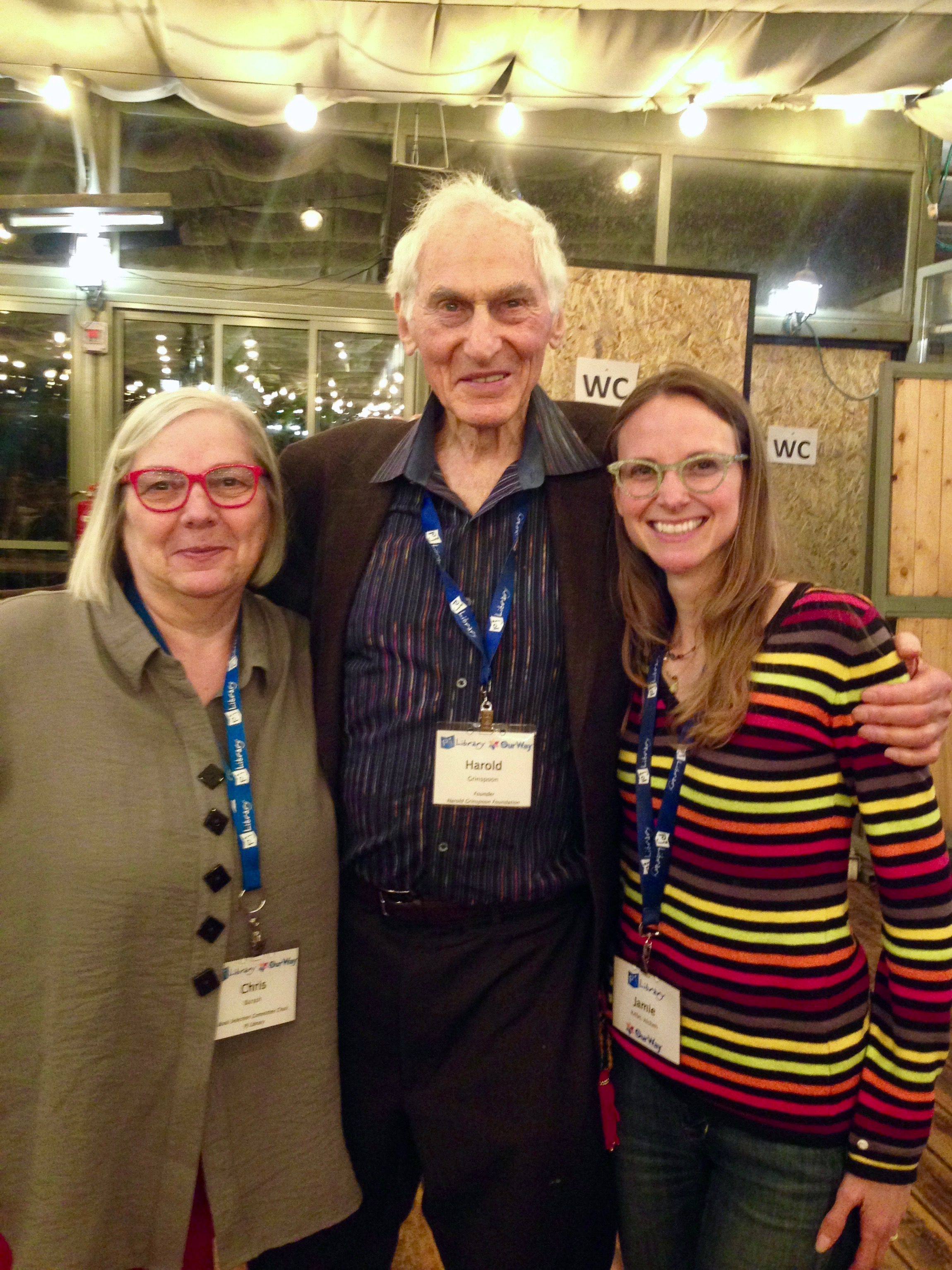 With PJ Library editor Chris Barash and Harold Grinspoon of the Harold Grinspoon Foundation