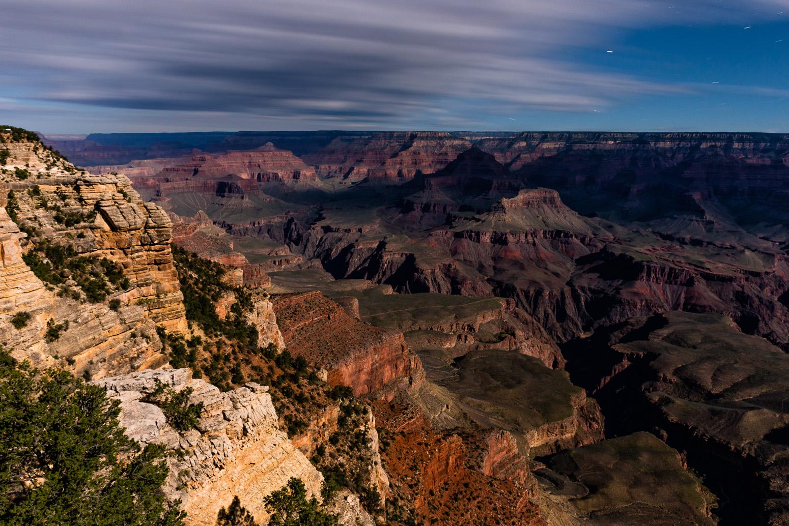 Grand Canyon, Mather Point, Moonlight Shot, South Rim, Arizona, USA