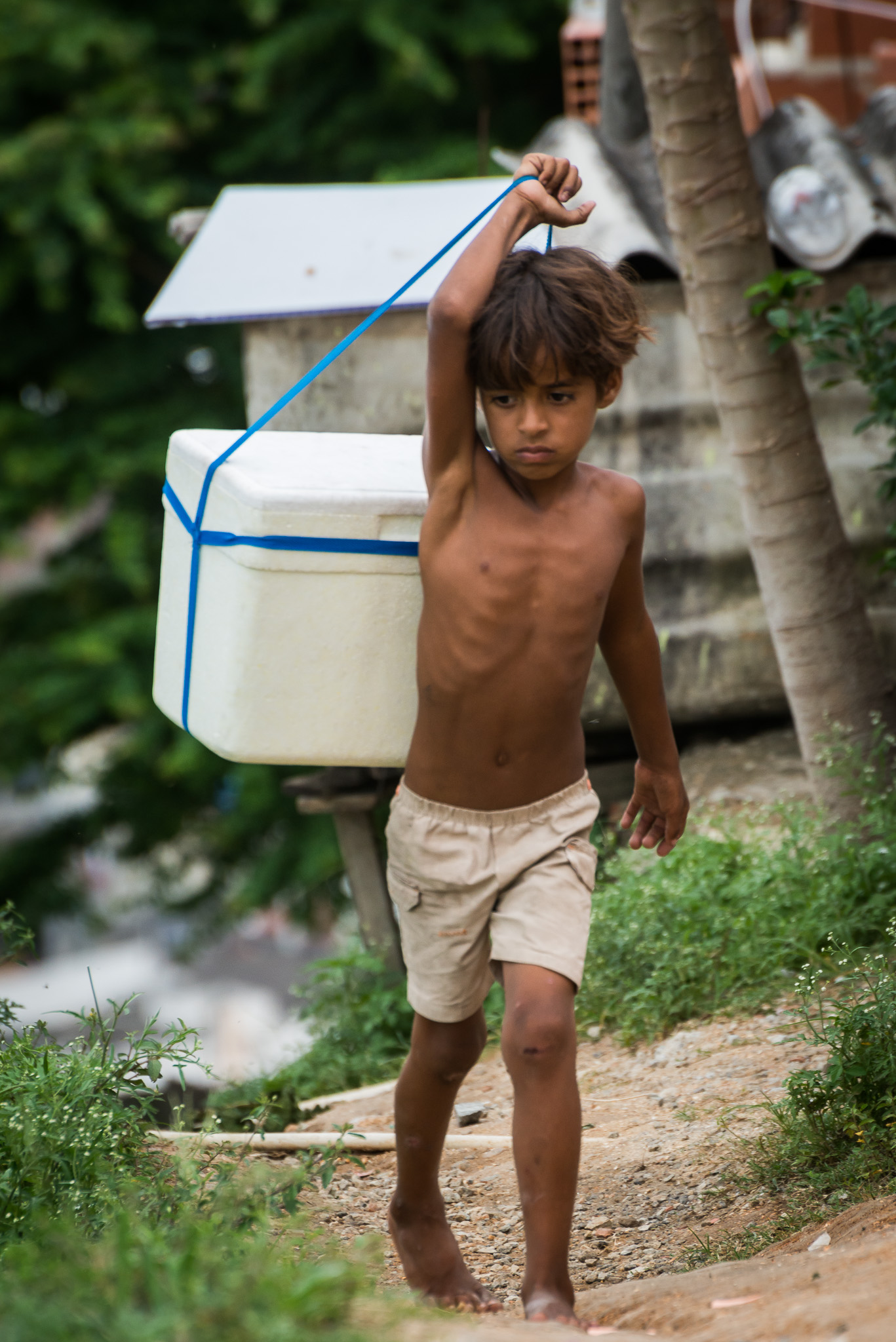 Selling Water, Alemao, Rio de Janeiro, Brasil