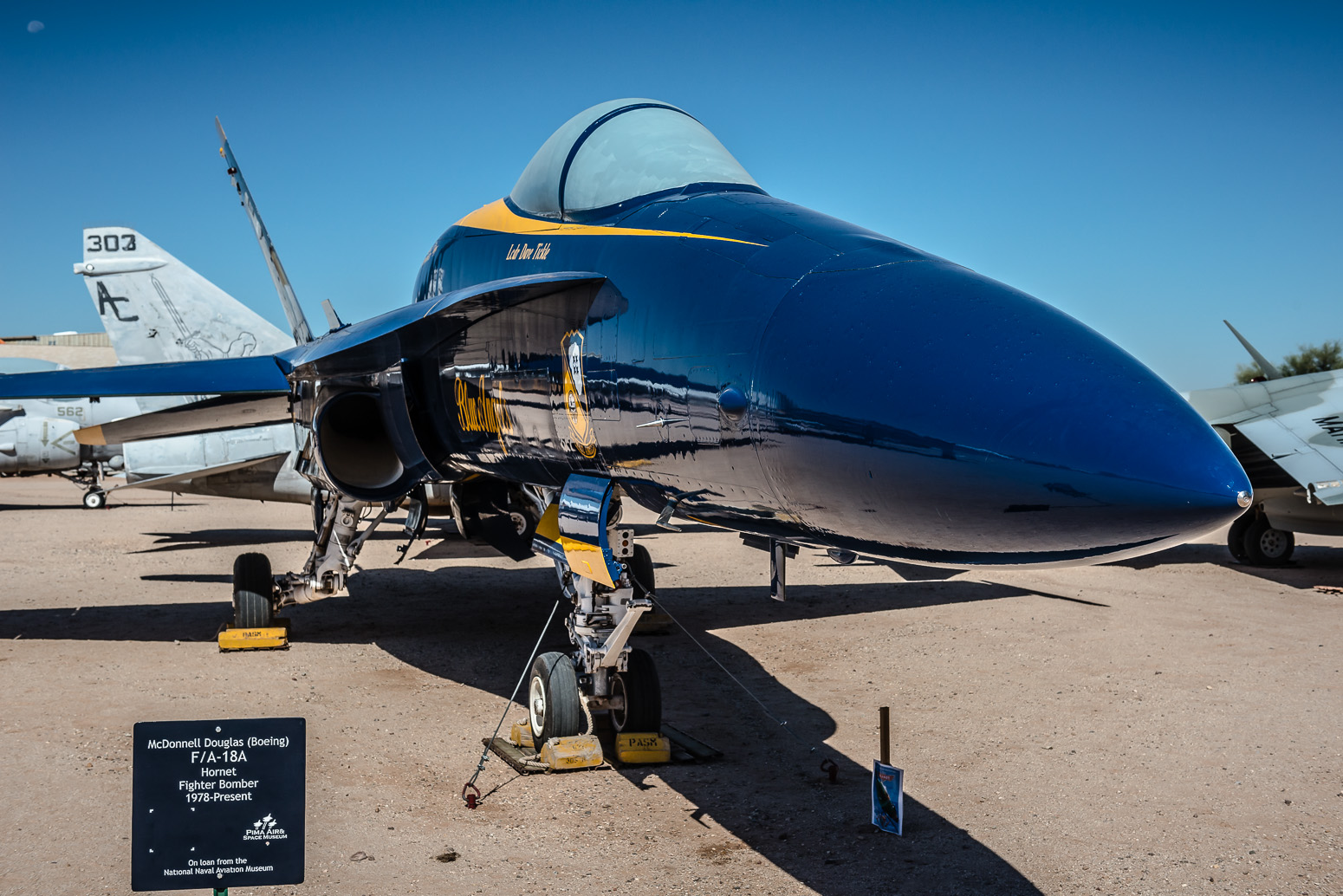 F/A-18A, Blue Angels, US Navy, Pima Air & Space Museum , Tucson, USA