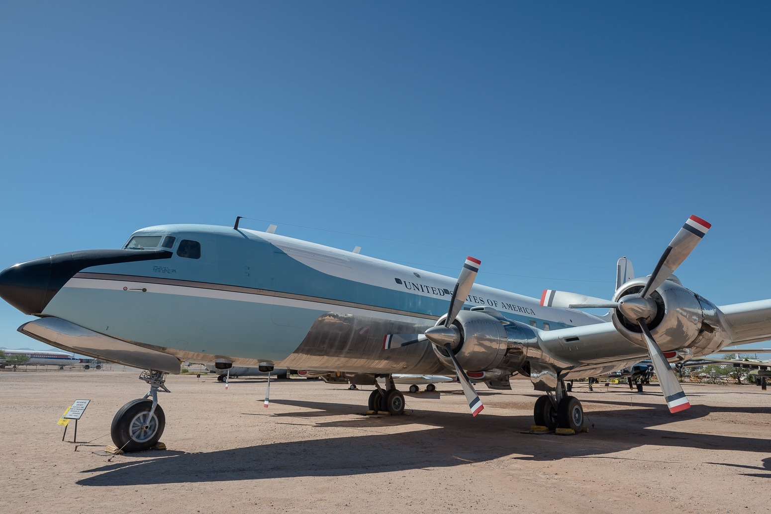 Air Force One used by Kennedy & Johnson, Pima Air & Space Museum , Tucson, USA
