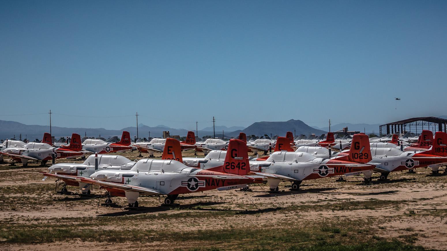 Beech T-34C, The Boneyard, Davis-Monthan Air Force Base, Tucson, USA